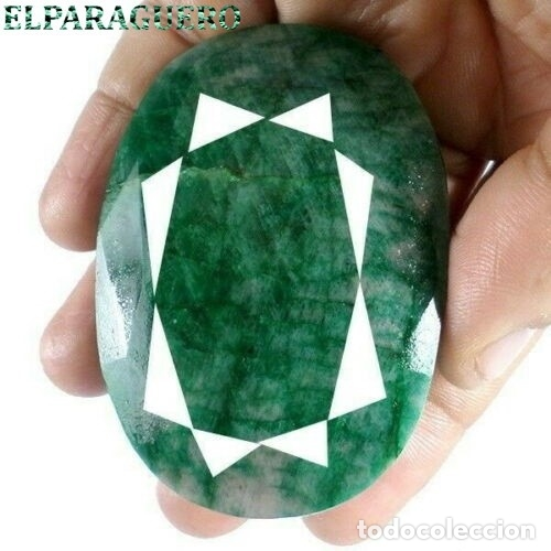 ESMERALDA DE COLOMBIA DE 620 KILATES - MEDIDA 7,0 X 5,0 CENTIMETROS APROXIMADAMENTE -Nº35 (Coleccionismo - Mineralogía - Gemas)