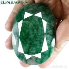 Coleccionismo de gemas: ESMERALDA DE COLOMBIA DE 620 KILATES - MEDIDA 7,0 X 5,0 CENTIMETROS APROXIMADAMENTE -Nº35. Lote 178916436