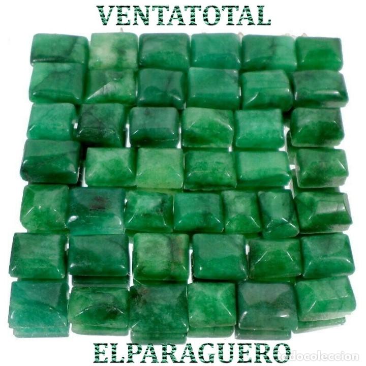 LOTE DE 43 ESMERALDAS DE COLOMBIA 480 KILATES MEDIDA APROXIMADA DE UNA 1,50 CENTIMETROS -Nº7 (Coleccionismo - Mineralogía - Gemas)