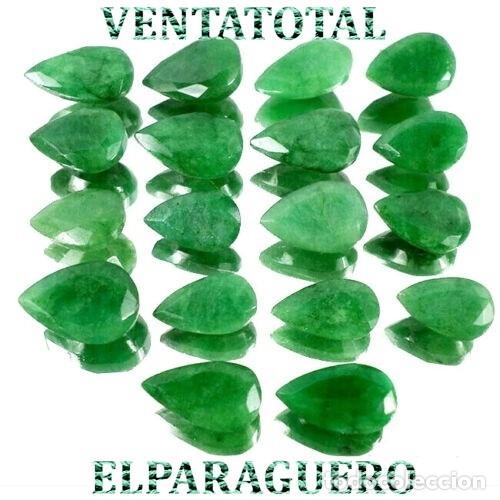 LOTE DE 18 ESMERALDAS DE COLOMBIA 185 KILATES MEDIDA DE UNA APROXIMADAMENTE 2 CENTIMETROS -Nº8 (Coleccionismo - Mineralogía - Gemas)