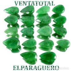 Coleccionismo de gemas: LOTE DE 18 ESMERALDAS DE COLOMBIA 185 KILATES MEDIDA DE UNA APROXIMADAMENTE 2 CENTIMETROS -Nº8. Lote 178916700