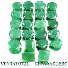 Coleccionismo de gemas: LOTE DE 22 ESMERALDAS DE COLOMBIA 196 KILATES MEDIDA DE UNA APROXIMADAMENTE DE 1 A 2 CENTIMETROS-Nº9. Lote 178916803