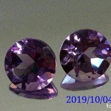 Coleccionismo de gemas: PAREJA DE AMATISTAS EN TALLA REDONDA 2.59 CTS.. Lote 179036875