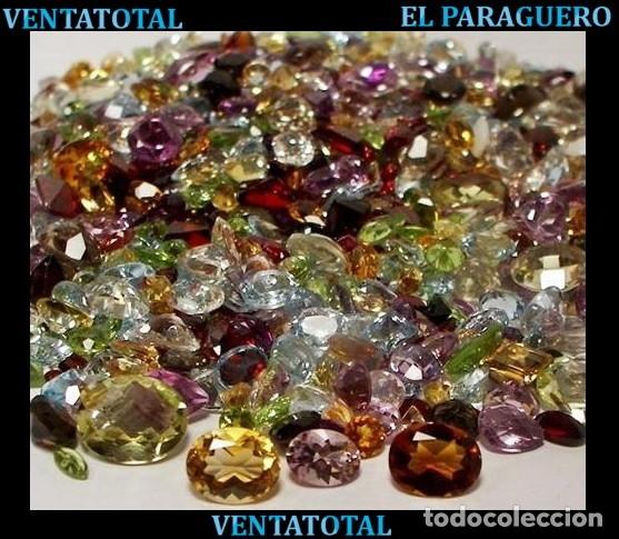 VENTATOTAL - LOTE DE GEMAS ZAFIROS - RUBIS - AGUAMARINAS - ESMERALDAS - GRANATES - TOPACIOS ETC-N4 (Coleccionismo - Mineralogía - Gemas)