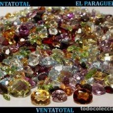Coleccionismo de gemas: VENTATOTAL-LOTES DE 100 GEMAS ZAFIROS - RUBIS - AGUAMARINAS - ESMERALDAS - GRANATES -TOPACIOS ETC-N7. Lote 212653421