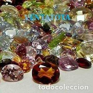 VENTATOTAL -LOTE DE 100 GEMAS ZAFIROS - RUBIS - AGUAMARINAS - ESMERALDAS -GRANATES -TOPACIOS ETC-N8 (Coleccionismo - Mineralogía - Gemas)