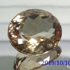 Coleccionismo de gemas: TOPACIO OVAL MARRÓN CLARO DE BRASIL VVS 10 32 CTS. Lote 179150337