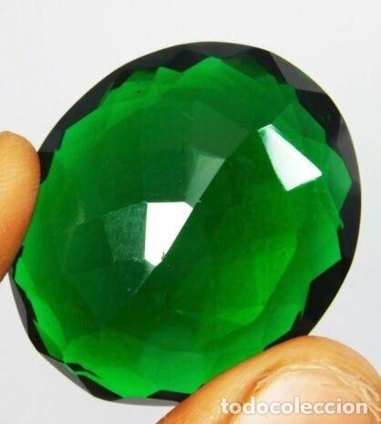 Coleccionismo de gemas: Precioso Topacio Flux Verde Talla Oval de Brasil con 73.05 Ct - Foto 3 - 179559595
