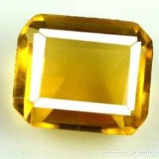 Coleccionismo de gemas: BONITO CITRINO NATURAL MADEIRA ORANGE TALLA ESMERALDA CON 5.20 CT. CERTIFICADO.AGSL.. Lote 179560045