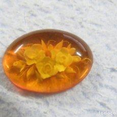 Coleccionismo de gemas: PRECIOSO AMBAR BALTICO TALLADO GENUINO PERFECTO PARA JOYERIA. Lote 180123133