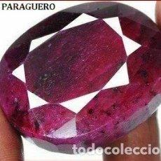 Coleccionismo de gemas: DELICIOSO RUBI ROJO SANGRE DE 565 KILATES CON CERTIFICADO - MEDIDA 4,5 X 3,7 X 2,9 CENTIMETROS -Nº13. Lote 180148235