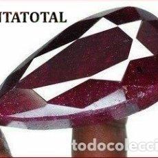 Coleccionismo de gemas: DELICIOSO RUBI ROJO SANGRE DE 450 KILATES CON CERTIFICADO - MEDIDA 5,5 X 3,0 X 2,6 CENTIMETROS -Nº16. Lote 180148606