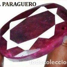 Coleccionismo de gemas: DELICIOSO RUBI ROJO SANGRE DE 370 KILATES CON CERTIFICADO - MEDIDA 4,7 X 2,9 X 2,2 CENTIMETROS -Nº17. Lote 180148657