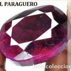 Coleccionismo de gemas: DELICIOSO RUBI ROJO SANGRE DE 485 KILATES CON CERTIFICADO - MEDIDA 4,5 X 3,3 X 2,6 CENTIMETROS -Nº19. Lote 180148970