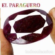 Coleccionismo de gemas: DELICIOSO RUBI ROJO SANGRE DE BIRMANIA DE 277 KILATES - MEDIDA 4,3 X 2,8 X 1,9 CENTIMETROS -Nº21. Lote 180149373