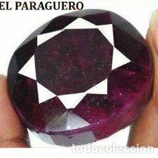 Coleccionismo de gemas: DELICIOSO RUBI ROJO SANGRE DE BIRMANIA DE 330 KILATES - MEDIDA 3,8 X 3,3 X 2,4 CENTIMETROS -Nº25. Lote 180149560
