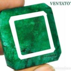 Coleccionismo de gemas: ENORME ESMERALDA COLOMBIANA DE 295 KILATES CON CERTIFICADO MEDIDA 3,9 X 3,8 X 2,3 CENTIMETROS -Nº39. Lote 180149738