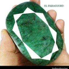 Coleccionismo de gemas: ENORME ESMERALDA COLOMBIANA DE 1000 KILATES MEDIDA 8,1 X 5,7 X 2,2 CENTIMETROS -Nº40. Lote 180149777