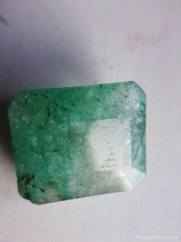 BONITA ESMERALDA NATURAL SIN TRATAMIENTO DE COLOMBIA VERDE MUY CLARA. CON 8.50 CT. (Coleccionismo - Mineralogía - Gemas)