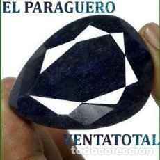 Coleccionismo de gemas: ENORME ZAFIRO DE AUSTRALIA DE 485 KILATES MEDIDA 4,9 X 3,7 X 2,5 CENTIMETROS - Nº50. Lote 180211891