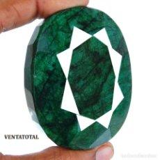 Coleccionismo de gemas: GIGANTE ESMERALDA DE CHIVOR COLOMBIA DE 1040 KILAT CERTIFICADA MEDIDA 8,3 X 6,5 X 2,3 CENTIMETRS-N53. Lote 180296646