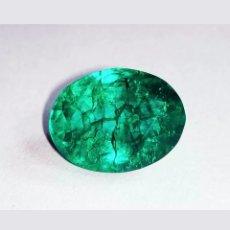 Coleccionismo de gemas: ESMERALDA NATURAL DENDRITICA DE COLOMBIA 6,90CT. Lote 180422128