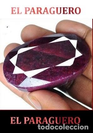 DELICIOSO RUBI ROJO SANGRE DE LA INDIA DE 485 KILATES CERTIFICADO - MEDE 5,3 X 3,1 X 2,4 CENTI-N39 (Coleccionismo - Mineralogía - Gemas)