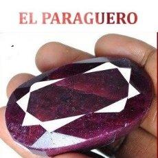 Coleccionismo de gemas: DELICIOSO RUBI ROJO SANGRE DE LA INDIA DE 485 KILATES CERTIFICADO - MEDE 5,3 X 3,1 X 2,4 CENTI-N39. Lote 181023055
