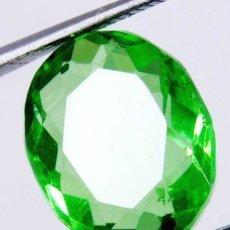 Coleccionismo de gemas: PRECIOSO TOPACIO FLUX DE BRASIL VERDE MANZANA TALLA OVAL DE 11.60 CT.. Lote 181141096