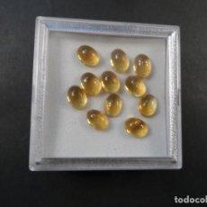 Coleccionismo de gemas: TOPACIOS CITRINOS TALLA CABUJON. 7 X 5,5 MM. 9,73 CTS. BRASIL. AÑOS 80-90. Lote 181443605