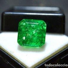 Coleccionismo de gemas: ESMERALDA DENDRÍTICA CRAQUELADA DE CRISTAL DE ROCA TALLA OCTAGONAL CON 6.85 CT. Lote 182350985