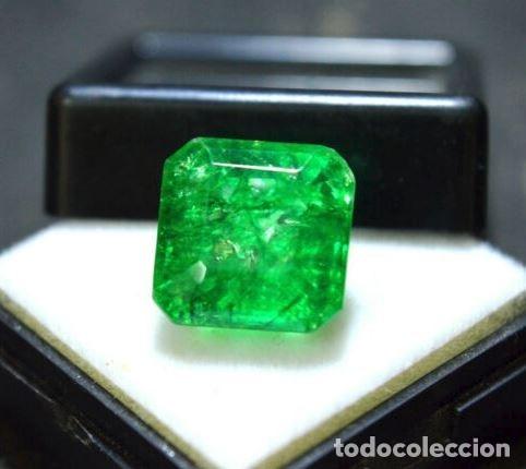 Coleccionismo de gemas: Esmeralda Dendrítica Craquelada de Cristal de Roca Talla Octagonal con 6.85 Ct - Foto 3 - 182350985