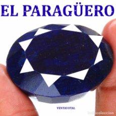 Colecionismo de pedras preciosas: ENORME ZAFIRO AZUL MALAWI DE 440 KILATES MIDE 4,5 X 3,3 X 2,6 CENTIMETROS CERTIFICADO KGCL - Nº8. Lote 182419120