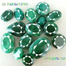Coleccionismo de gemas: 15 ESMERALDAS ENORMES DE BRASIL CON UN TOTAL DE 990 KILATES CON CERTIFICADO KGCL - Nº1. Lote 241237305