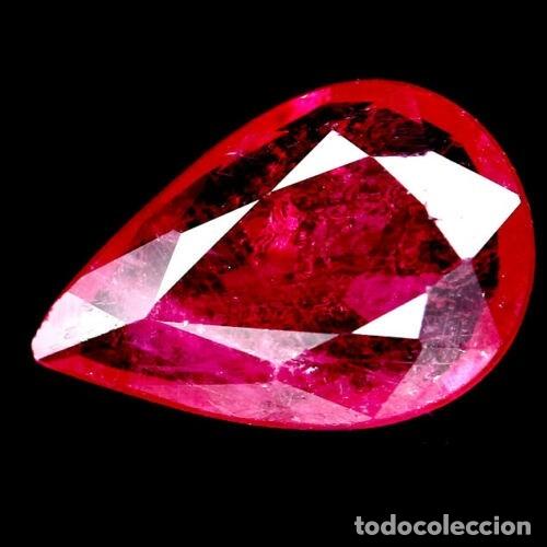 RUBI LAGRIMA 11,2 X 7,5 MM. (Coleccionismo - Mineralogía - Gemas)