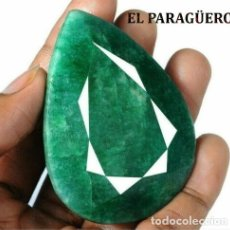 Coleccionismo de gemas: ESMERALDA DE MUZO COLOMBIA DE 360 KILATES MIDE 6,3 X 4,8 X1,1 CENTIMETROS CON CERTIFICADO KGCL - Nº9. Lote 182596726