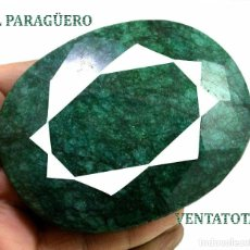 Collectionnisme de gemmes: PIEZA DE MUSEO GIGANTE ESMERALDA COLOMBIANA DE 1500 KILATES MIDE 8,00 X 6,5 X 3,5 CENTIMETROS -Nº17. Lote 232377675