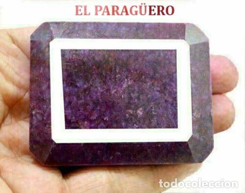 GIGANTE Y PRECIOSO RUBI DE LA INDIA DE 900 KILATES MIDE 6,5 X 5,5 X 1,0 CM Nº12 (Coleccionismo - Mineralogía - Gemas)