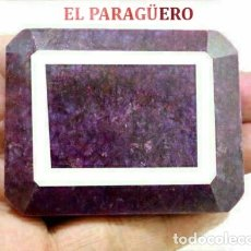 Coleccionismo de gemas: GIGANTE Y PRECIOSO RUBI DE LA INDIA DE 900 KILATES MIDE 6,5 X 5,5 X 1,0 CM Nº12. Lote 182639617