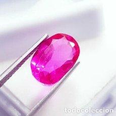 Collectionnisme de gemmes: HERMOSO ZAFIRO NATURAL ROSA DE SRI LANKA (CEYLAN) OVAL CON 6.10 CT. CERTIFICADO.. Lote 182664546