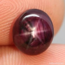 Coleccionismo de gemas: RUBI ESTRELLA OVAL 10,0 X 8,9 MM.. Lote 182726372