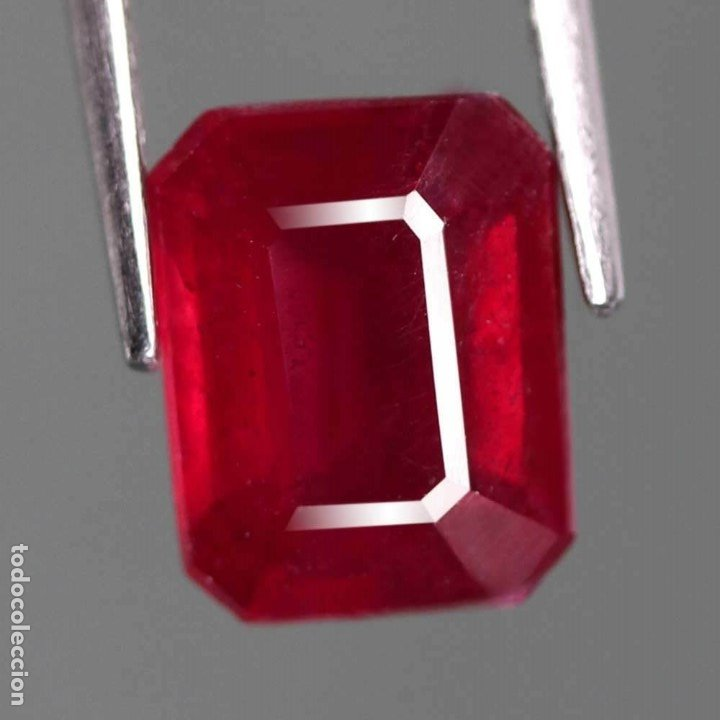 RUBI 7,4 X 6,0 MM. (Coleccionismo - Mineralogía - Gemas)