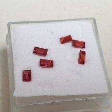 Coleccionismo de gemas: 6 ZAFIROS NATURALES PADPARADSCHA 0,13 CT Y 3,8 M TALLA BAGUETTE UNIDAD 15 EU. Lote 183426951