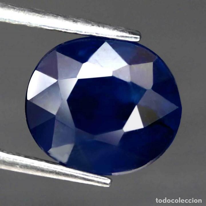 ZAFIRO AZUL 9,5 X 8,3 MM. (Coleccionismo - Mineralogía - Gemas)