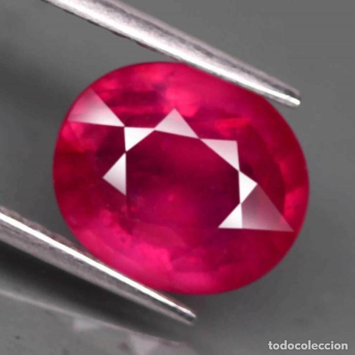 Coleccionismo de gemas: Rubi Oval 10,3 x 8,7 mm. - Foto 2 - 183832268