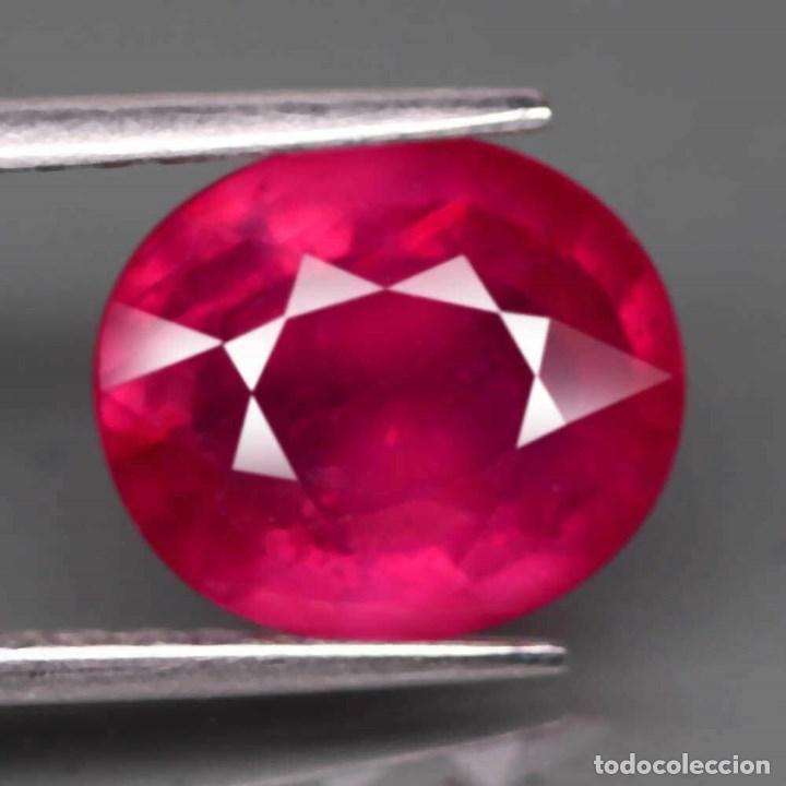 RUBI OVAL 10,3 X 8,7 MM. (Coleccionismo - Mineralogía - Gemas)