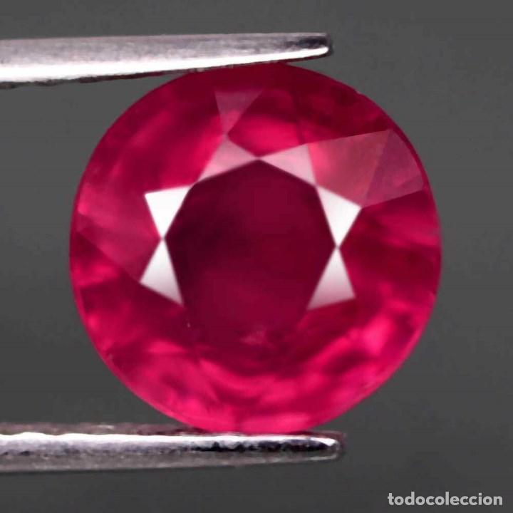 RUBI REDONDO 9,3 MM. (Coleccionismo - Mineralogía - Gemas)