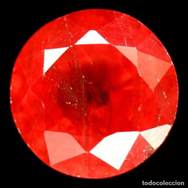 ZAFIRO NARANJA REDONDO 8.2 MM. (Coleccionismo - Mineralogía - Gemas)