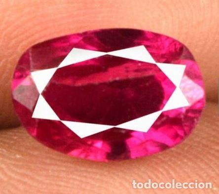 RUBELITA (TURMALINA) ROJA NATURAL DE MOZAMBIQUE, OVAL, DE 5.00 CT.-CERTIFICADA AGI. (Coleccionismo - Mineralogía - Gemas)