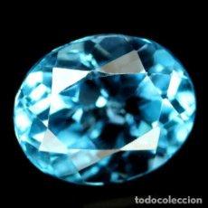 Coleccionismo de gemas: TOPACIO AZUL SUIZO 11,0 X 9,0 MM.. Lote 184559202